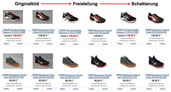 Schuhe Bildbearbeitung
