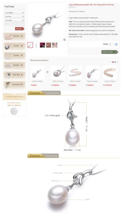 Long Page Schmuck - Produktshot